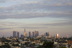 Los Angeles at sunset Royalty Free Stock Photos