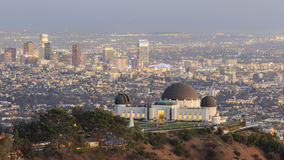 Los Angeles Sunset Cityscape, Griffin Observatory. Los Angeles Sunset Cityscape at high, Griffin Observatory Royalty Free Stock Photo