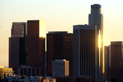 Los Angeles sunset skyline Royalty Free Stock Photo