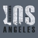 Los Angeles t-shirt and apparel vector design, print, typography. Poster, emblem Royalty Free Stock Photos