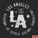 Los Angeles tappningstämpel Fotografering för Bildbyråer