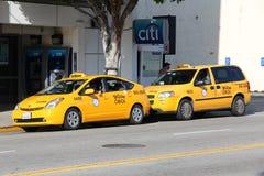 Los Angeles taxi royaltyfri bild