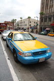 Los Angeles taxiHollywood boulevard royaltyfri fotografi