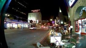 Los Angeles timelaps på Hollywood bld arkivfilmer