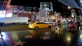 Los Angeles-timeleaps auf Holyiwood-bld