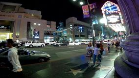 Los Angeles timeleaps op Hollywood bld stock footage