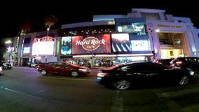 Los Angeles timeleaps op Hollywood bld stock video