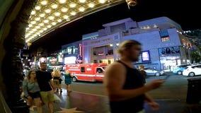 Los Angeles timeleaps på Holiwood bld stock video