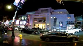Los Angeles timeleaps på Hollywood bld lager videofilmer