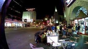 Los Angeles timeleaps på Hollywood bld arkivfilmer