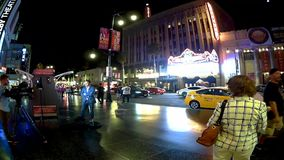 Los Angeles timeleaps på Hollywood bld stock video