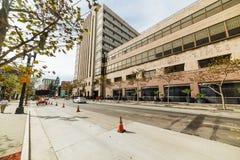 Los Angeles Times byggnad i i stadens centrum L A Fotografering för Bildbyråer