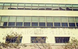 Los Angeles Times byggnad i i stadens centrum L A Royaltyfri Bild