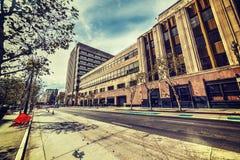 Los Angeles Times byggnad i i stadens centrum L A Arkivfoton