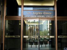 Los Angeles Times Signage royalty free stock photo