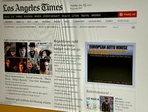 The Los Angeles Times website Royalty Free Stock Photos