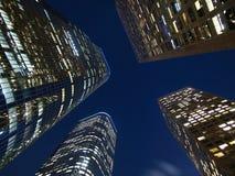 Los Angeles torreggia su notte Fotografia Stock