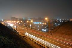 Los Angeles tunnelbana på natten Royaltyfri Fotografi