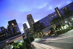 Los Angeles at twilight Stock Image