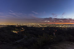 Los Angeles Twilight in Griffith Park Royalty Free Stock Images
