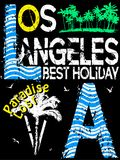 Los Angeles typography design Royalty Free Stock Photography