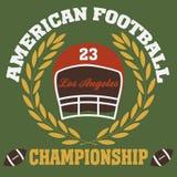 Los angeles. Typography fashion football american, t-shirt graphics Stock Photos