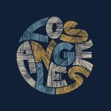Los Angeles Typography Graphics. T-shirt fashion Design. vector illustration
