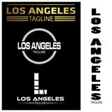 Los Angeles typography set, flat designs. EPS file available. see more images related vector illustration