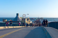 Los Angeles. U.S.A., California, Los Angeles, the bridge of the Santa Monica sea front Royalty Free Stock Photos