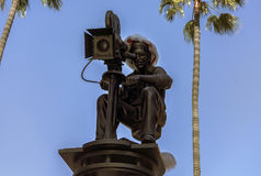 Los Angeles, U.S.A. - December 26, 2016: Hollywood, a filmmaker. Hollywood- USA, December, 26: Universal Studios Symbolic Composition seen at Universal Studios Stock Photo