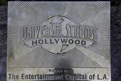 Los Angeles, U.S.A. - December 26, 2016: Hollywood, a filmmaker. Hollywood- USA, December, 26: Universal Studios Symbolic Composition seen at Universal Studios Royalty Free Stock Photo