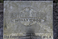 Los Angeles, U.S.A. - December 26, 2016: Hollywood, a filmmaker. Hollywood- USA, December, 26: Universal Studios Symbolic Composition seen at Universal Studios Royalty Free Stock Images