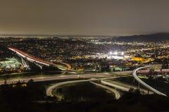 Los Angeles- und Glendale-Nacht Lizenzfreies Stockfoto