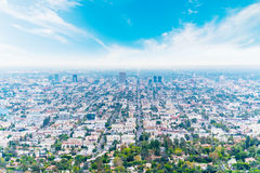 Los Angeles under a blue sky Royalty Free Stock Images