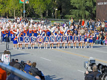 Los Angeles Unified School Marching Band. PASADENA, CA - JANUARY 1: The Los Angeles Unified School District Marching Band proudly preformed in the 121st Royalty Free Stock Photos