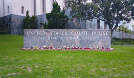 Los Angeles United States Court House. Sign Royalty Free Stock Images