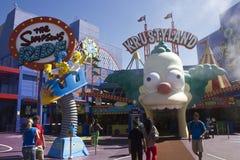 Los Angeles Universal Studio_The Simpson Stock Photo