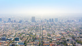 Los Angeles with urban buildings Royalty Free Stock Photo