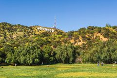 The Hollywood Sign royalty free stock images
