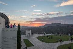LOS ANGELES, USA - AUGUST 3, 2014 - los angeles view from observatory Royalty Free Stock Photo
