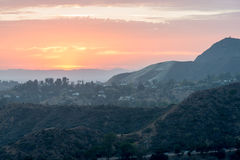 LOS ANGELES, USA - AUGUST 3, 2014 - los angeles view from observatory Royalty Free Stock Image