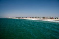 LOS ANGELES, USA - AUGUST 5, 2014 - people in venice beach landscape Royalty Free Stock Photos