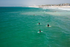 LOS ANGELES, USA - AUGUST 5, 2014 - people in venice beach landscape Royalty Free Stock Images