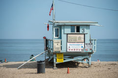 LOS ANGELES, USA - AUGUST 5, 2014 - people in venice beach landscape Stock Image