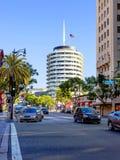 Los Angeles, usa, 2016:02: 25 Budujący, ` Capitol nagrywa ` na Hollywood bulwarze Zdjęcia Royalty Free