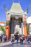 Los Angeles, USA, Grauman`s Chinese theater. Chinese theater Grauman is a cinema for 1162 seats, located on Hollywood Boulevard in Los Angeles. The building was stock photos
