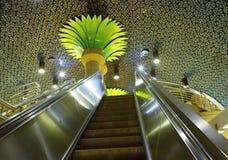 Los Angeles USA, Hollywood linje gångtunnelstation arkivfoton