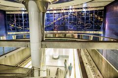 Los Angeles, USA, 2016:02:25 Interior of metro station Vermont /Sunset Hollywood line. Stock Photo