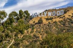 LOS ANGELES USA - JULI 05, 2018, Hollywood undertecknar in Hollywoodet Hills i Kalifornien, det mest igenkännlig och populärt royaltyfria foton