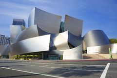 Los Angeles USA, 2016:02: 28 konserthallen Walt Disney Royaltyfria Bilder